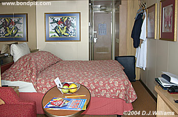 cabin on board the ossterdam cruise ship